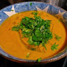 Spicy Sweet Potato and Chick Pea Soup – from Ocado's magazine