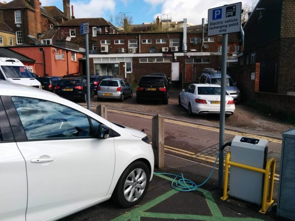 Electric car charger in Ashford