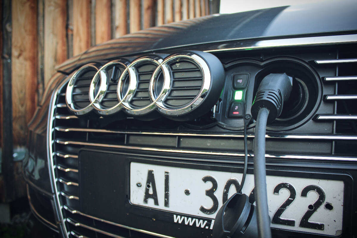 Audi eTron charging port