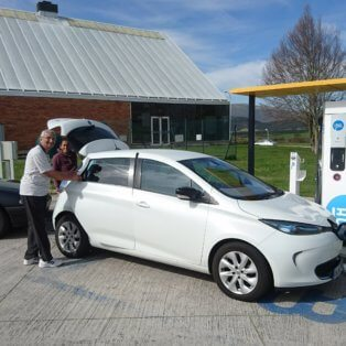 How difficult is it to charge an electric car in Northern Spain?